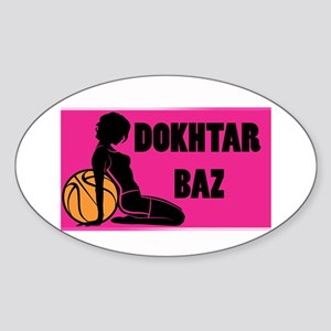 dokhtar baz Oval Sticker