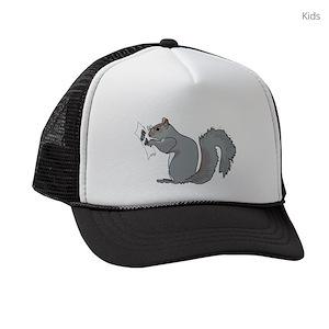 3789320bb5c7d Squirrels Kids Trucker Hats - CafePress