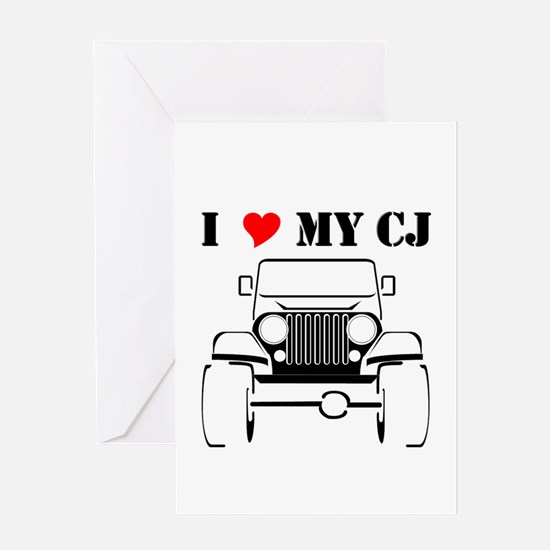 Unique Jeeps Greeting Card