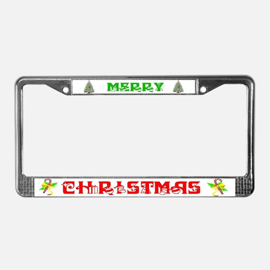 Unique Santa License Plate Frame