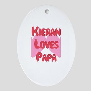 Kieran Loves Papa Oval Ornament