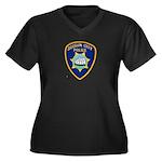 Suisun City Police Women's Plus Size V-Neck Dark T