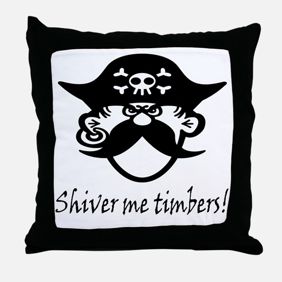 Shiver Me Timbers! Throw Pillow