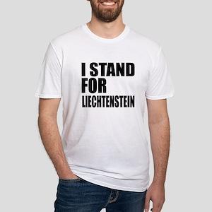 I Stand For Liechtenstein Fitted T-Shirt