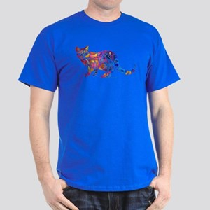 Whimsical Kitty 1 Dark T-Shirt