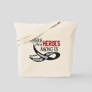 Heroes Among Us MELANOMA Tote Bag