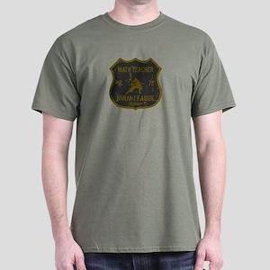 Math Teacher Ninja League Dark T-Shirt