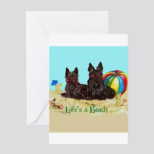Life's a Beach Scottish Terri Greeting Card