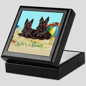 Life's a Beach Scottish Terri Keepsake Box