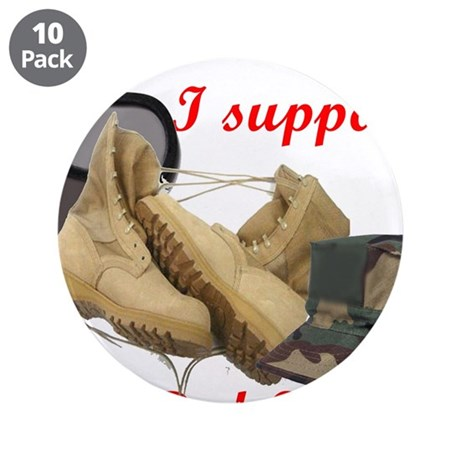"""I Support Red Fridays 3.5"""" Button (10 pack)"""