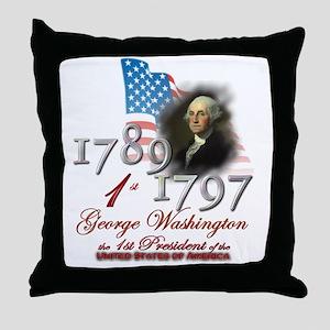 1st President - Throw Pillow