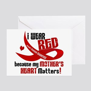 Red For My Mother Heart Disease Greeting Card