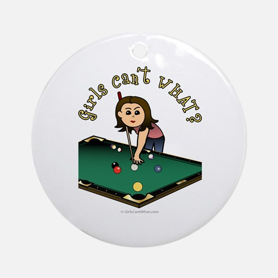 Light Billiards Ornament (Round)