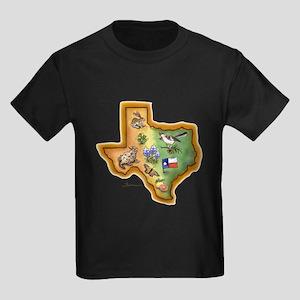 Texas Symbols Kids Dark T-Shirt
