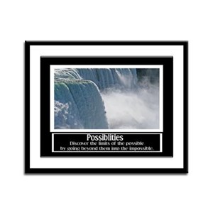 Possibilities Motivational Framed Panel Print