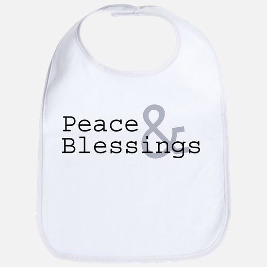 Peace & Blessings Bib