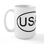 United States - USA - Oval Large Mug