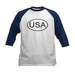 United States - USA - Oval Kids Baseball Jersey