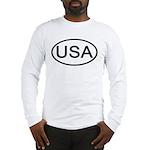 United States - USA - Oval Long Sleeve T-Shirt