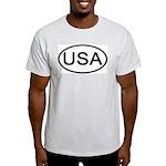 United States - USA - Oval Ash Grey T-Shirt