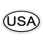 United States - USA - Oval Oval Sticker