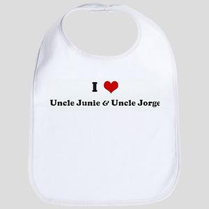 I Love Uncle Junie & Uncle Jo Bib