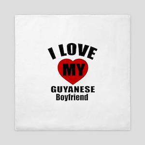 I Love My Guyanese Boyfriend Queen Duvet