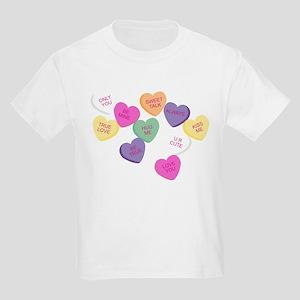 Candy Hearts! Kids Light T-Shirt