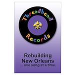 Threadhead Records Large Poster (prpl)