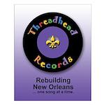 Threadhead Records Small Poster (prpl)