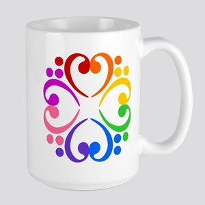 Bass Clef Flower Large Mug