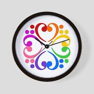 Bass Clef Flower Wall Clock
