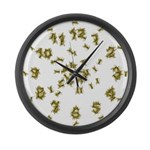 Yellow Jacket Large Wall Clock