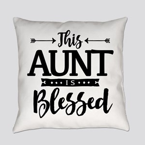Blessed Aunt Everyday Pillow