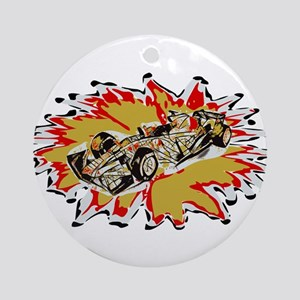 Race Car Round Ornament