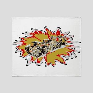 Race Car Throw Blanket