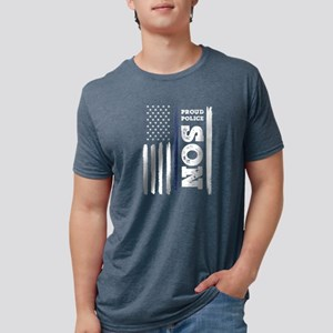 I Back The Blue Proud Police Son Thin Blue T-Shirt