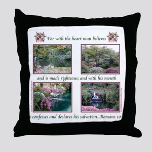 """With the Heart"" Throw Pillow"