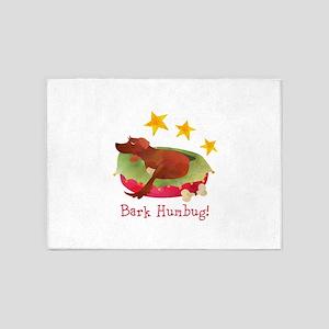 Bark Humbug Christmas Dog 5'x7'Area Rug