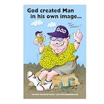 God Created Man Postcard Pack (8)