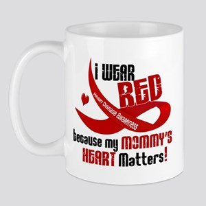Red For My Mommy Heart Disease Mug