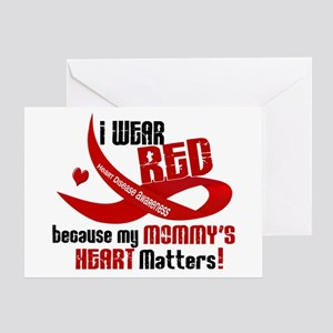 Red For My Mommy Heart Disease Greeting Card