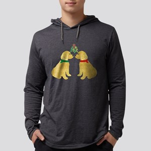 Goldendoodles Kissing Mistletoe Long Sleeve T-Shir