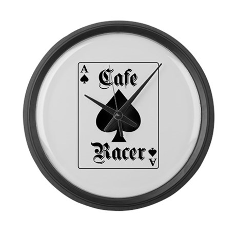 Ace of Spades Large Wall Clock