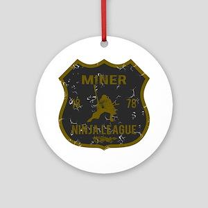 Miner Ninja League Ornament (Round)