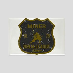 Miner Ninja League Rectangle Magnet