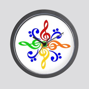 Bass and Treble Clef Design Wall Clock