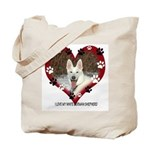 I Love my White German Shephe Tote Bag