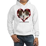 I Love my White German Shephe Hooded Sweatshirt