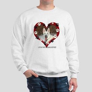 I Love my White German Shephe Sweatshirt